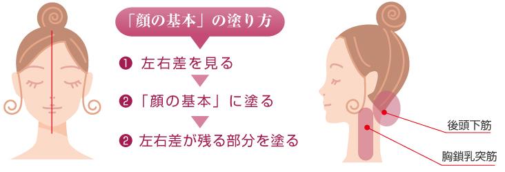 リッチリフト「顔の基本」の塗り方